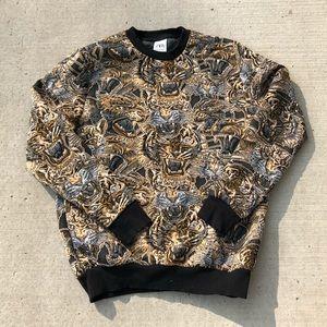 Zara tiger jacquard sweater